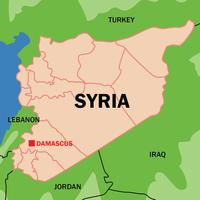 Vector de mapa sintético de Syria