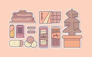 Ilustração dos doces do vetor