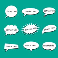 Bubble Speech Contacte-me Vector