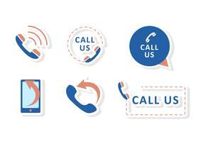 Ligue para nós vetores de ícones