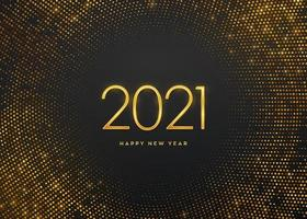feliz ano novo ouro luxo números 2021