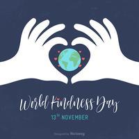 Cartão do vetor do dia da bondade mundial