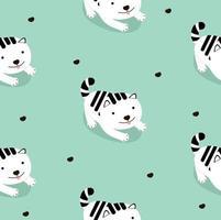 padrão sem emenda de desenho de gato branco vetor