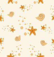 padrão de pedra de concha de estrela do mar vetor