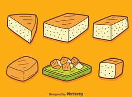 Vetor de coleção de tofu