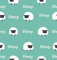 Padrão sem emenda de ovelhinha preta fofa