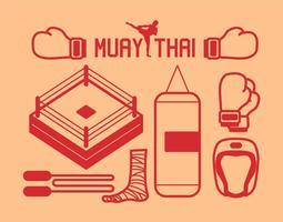 conjunto de vetores muay thai