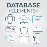 Vector grátis de elementos do banco de dados