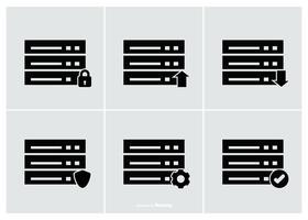 Coleção de ícone de banco de dados vetor