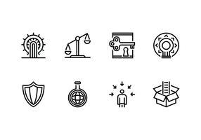 Personalização e conjunto de caracteres ícone linear vetor