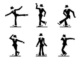 vetor de personagem de dança de torneira