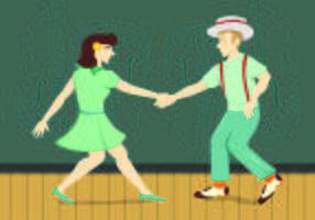 Ilustração do conceito de dança de torneira vetor