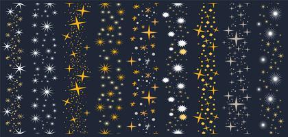 estrelas brilhantes e brilhantes vetores