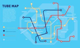 mapa de tubo vetor de cor azul