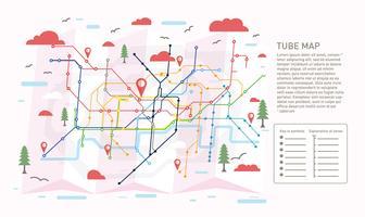 mapa de tubos vetor ilustration