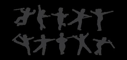 Vector de silhuetas de dança de torneira