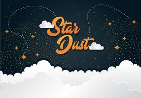 projeto de vetor de poeira estelar