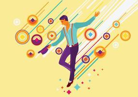 Ilustração de Artista de dança de torneira vetor