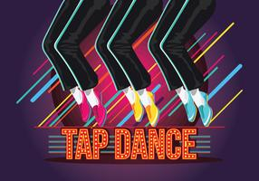 Ilustração de Tap Dance Poster vetor