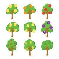 Ícone do vetor da árvore de frutas