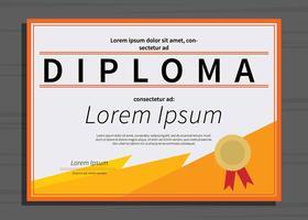 Ilustração grátis do modelo do diploma vetor