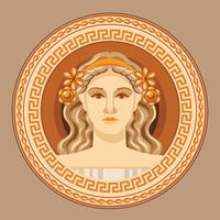 Aphrodite Ancient Greek Logo Vector
