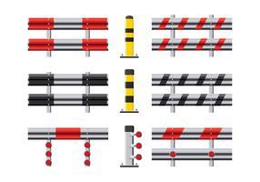 Jogo de ilustração vetorial de Guardrail vetor