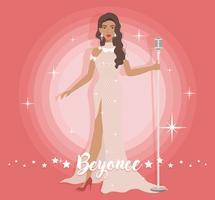 Vestido bonito Beyonce vetor