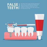Vetor grátis de dentes falsos