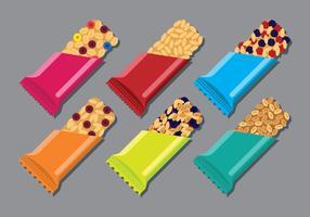 Conjunto de ícones de granola vetor