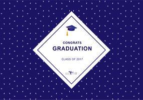 Fundo azul de graduação vetor