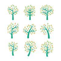 Coleção livre do vetor da árvore de pessegueiro