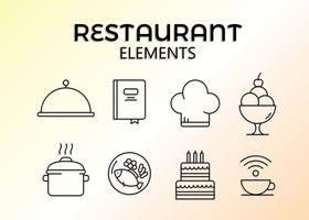 Vector de Elements de Restaurante Gratuito