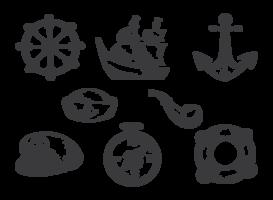 Vetores de marinheiro desenhados a mão