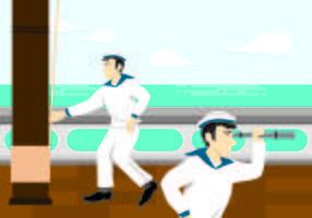 Ilustração do conceito de marinheiro vetor
