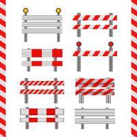 Ícones do vetor Guardrail