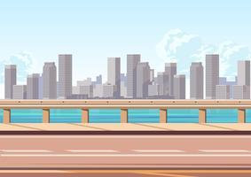 Caminho alto com o Velho Guardrail vetor
