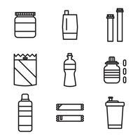 Vetores de garrafas de suplementos