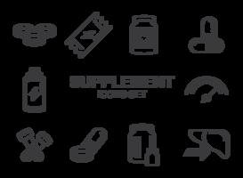 Vetor de ícones de suplementos