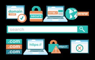 Vector de ícones de domínio