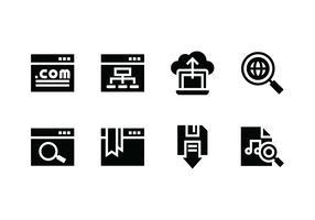 Ícone de vetor de conjunto de sites