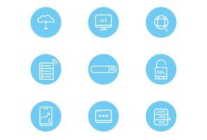 Ícones do site e da Internet vetor