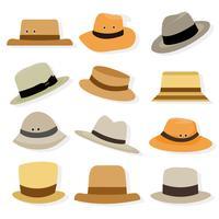 vetor de ícones do chapéu panama grátis
