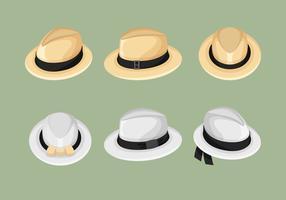 Coleção de vetores do chapéu do Panamá