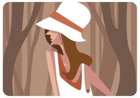 Modelo com vetor de chapéu