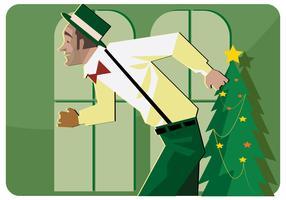 Vector do dançarino de torneira do Natal