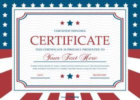 Modelo de certificado de estilo patriótico vetor