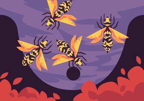 Ninho de vespas vetor
