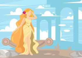 Deusa grega Afrodite vetor