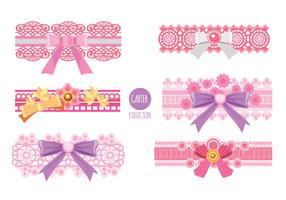 Coleção Pink Garter Vector